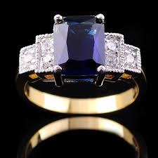 Image of a Sapphire and Diamond Ring