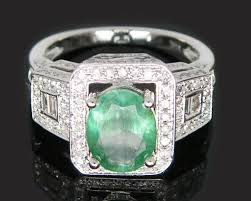 Picture of Emerald and Diamond Ring