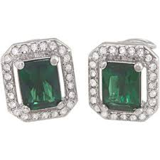 Image of Emerald and Diamond Earrings