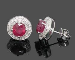 Picture of Ruby and Diamond Earrings